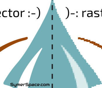 reflected comparison of vector vs raster image