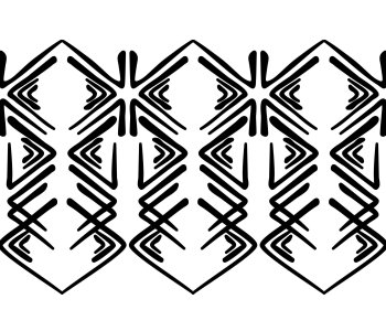 Angular Tacoma Salish Inkblot Pattern