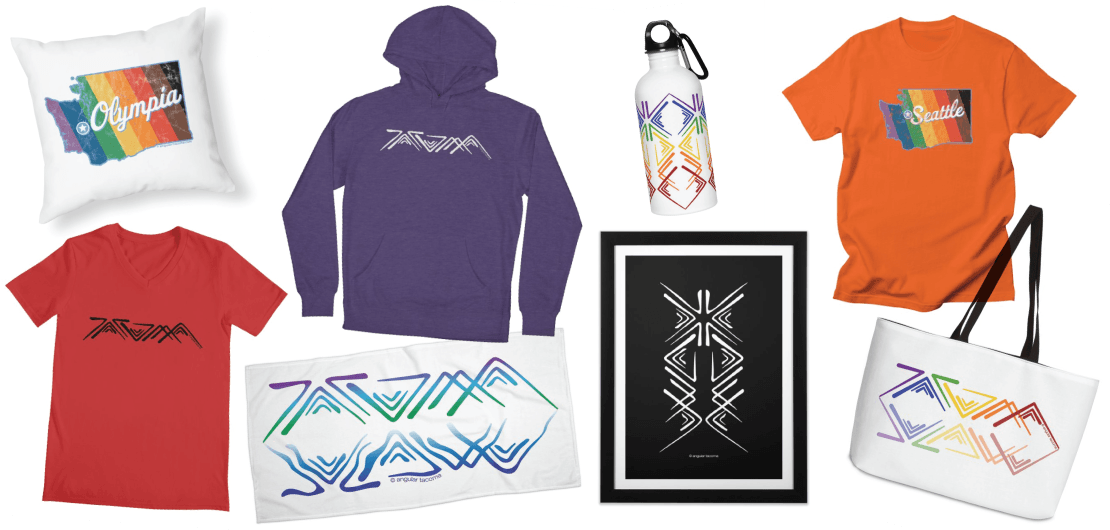 Examples of products and designs available at the SymerSpace Shop