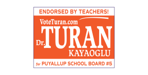 VoteTuran.com campaign sign