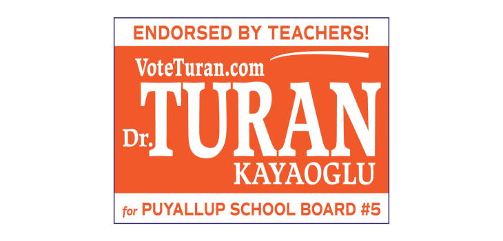 VoteTuran.com campaign sign