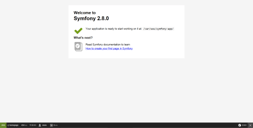 small resolution of symfony welcome page