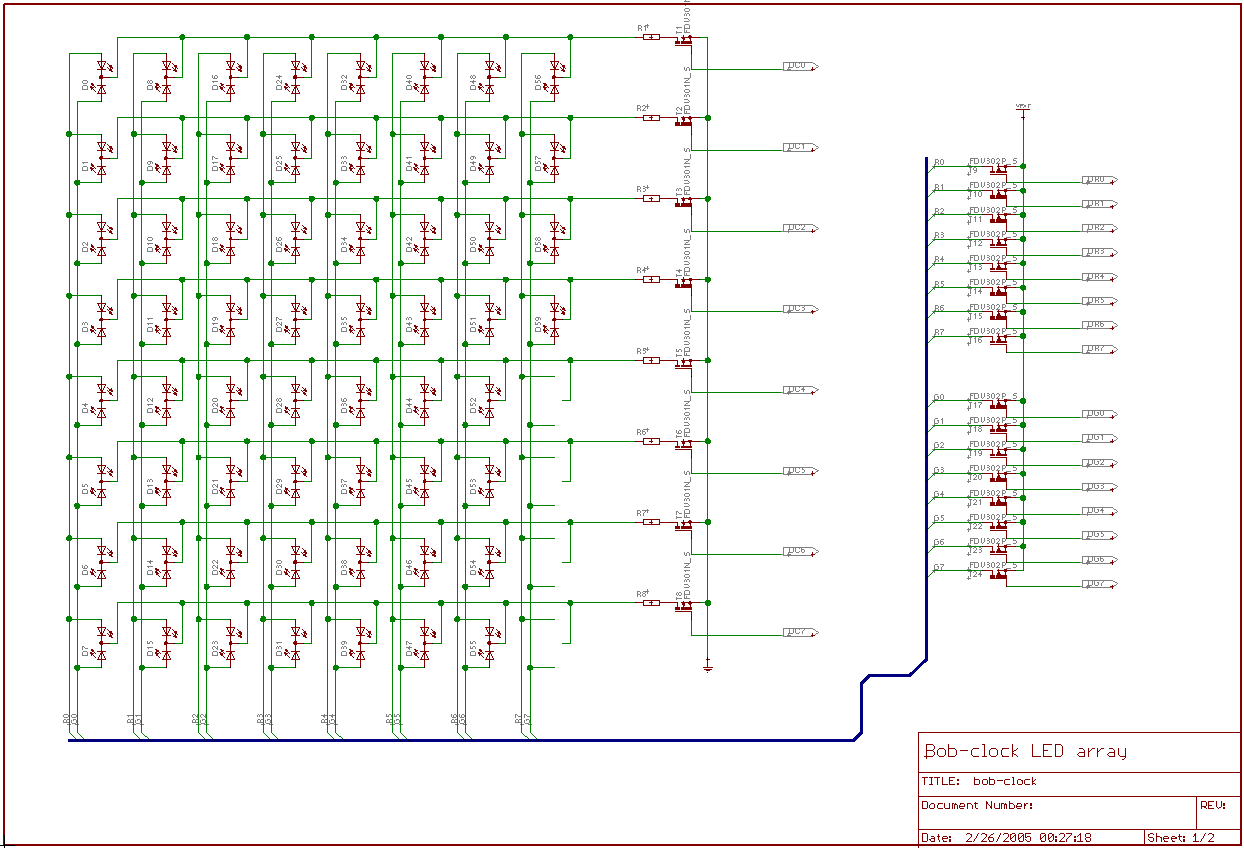 hight resolution of led matrix and driver circuit