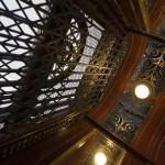 Interior view of an ornate LU/LA elevator