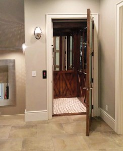 Symmetry Custom Residential Elevator installed by Country Home Elevator