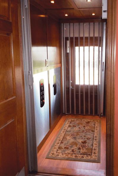 Symmetry Custom Residential Elevator with Shaker Panels