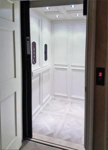 Symmetry Custom Home Elevator Car with Raised Panels
