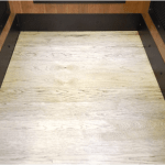 Mine Shaft Home Elevator Car Hardwood Floor Clear Coat Finish