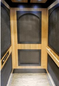 Wire Mesh Mine Shaft Home Elevator Car Interior View