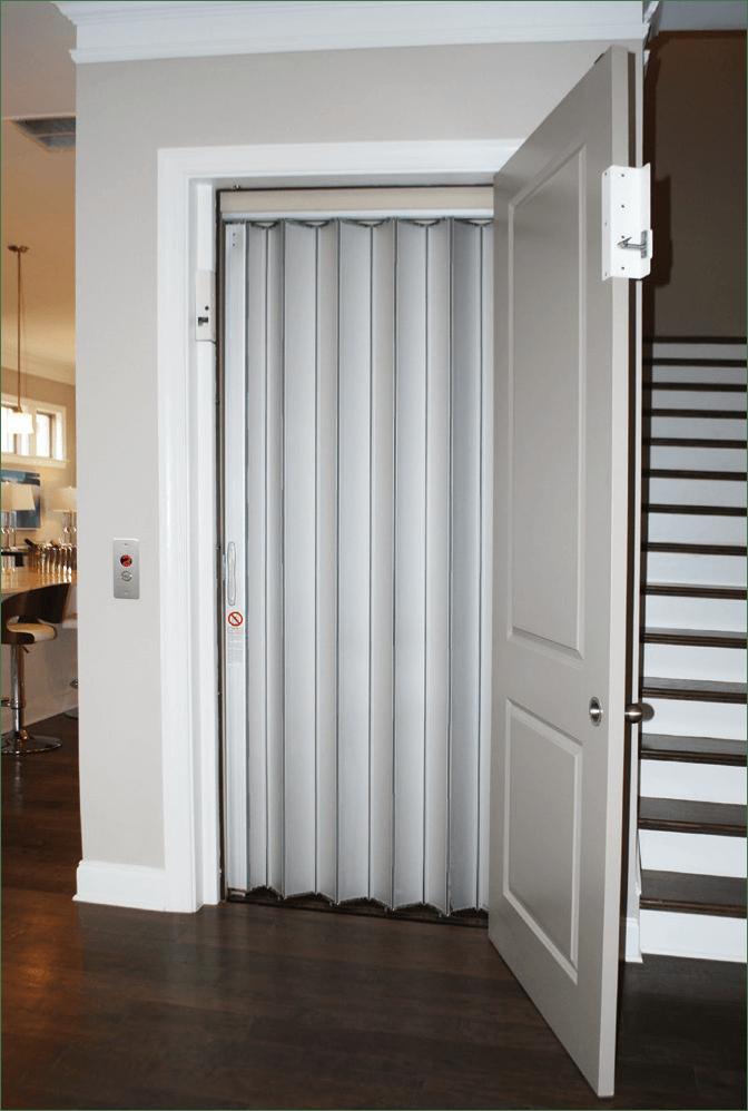 Home Elevator Accordion Gate Solid Aluminum Panels