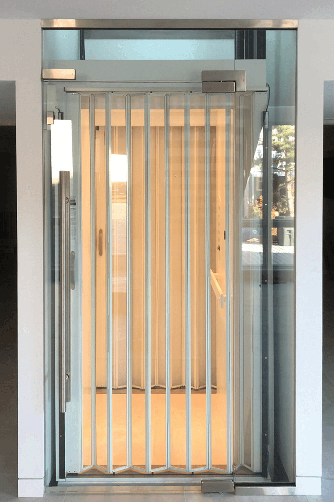 Home Elevator Accordion Gate with Clear Acrylic Panels