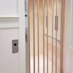 Symmetry Home Elevator Clear Acrylic Accordion Gate