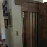 Symmetry Home Elevator Wood Accordion Gate