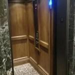 Symmetry LU/LA Elevator Custom Wood Interior Installed by DME