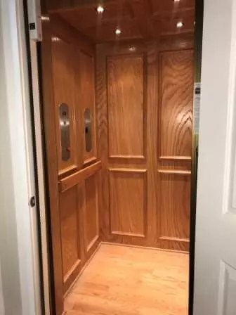 Symmetry Home Elevator Flat Panel with Picture Framing