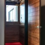 Symmetry Home Elevator customized with shiplap