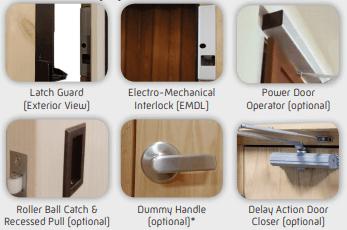 Flush Mount Landing Door/Frame Package Additional Equipment