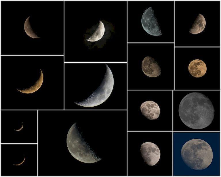 Nighttime Sky Full Moon