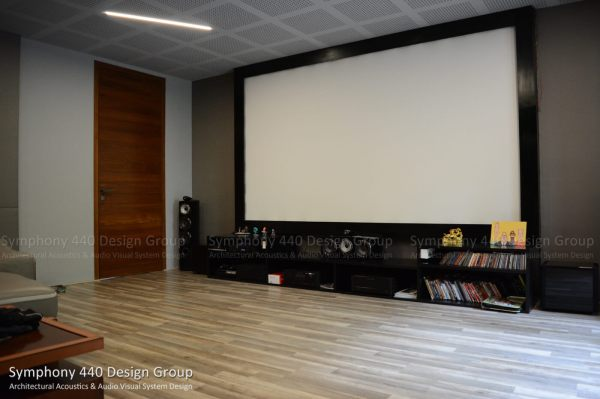 Home Theater - Jubilee Hills, Hyderabad Symphony 440 Design Group