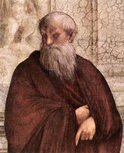 Raphael. La escuela de Atenas. Detalle de Plotino