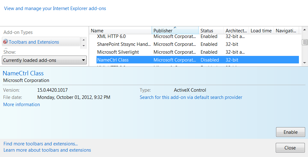 Fix Internet Explorer Crashes with SharePoint 2013 Online Presence
