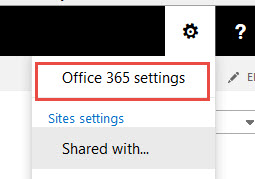 To view the Office 365 Profile go to Office 365 settings