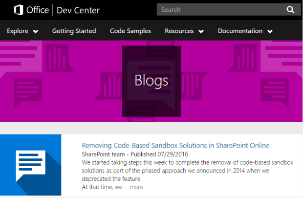 Removing Code-Based Sandbox Solutions in SharePoint Online SharePoint team - Published 07/29/2016