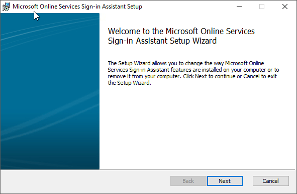 Microsoft Online Services Sign-In Assistant for IT Professionals RTW