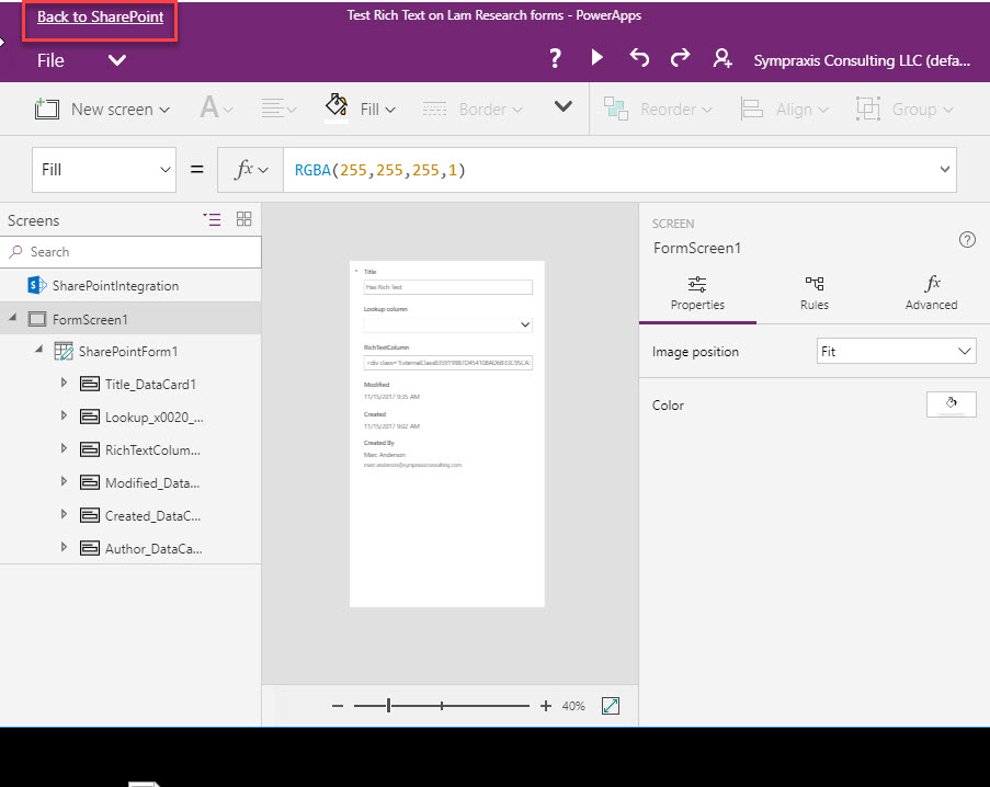 SharePoint List Forms with PowerApps Now Available in First