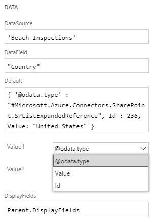 PowerApps Tip: Setting a SharePoint List Lookup Column | Marc D