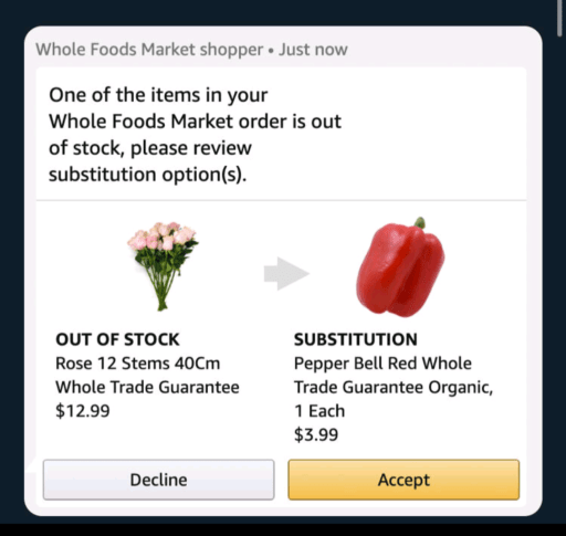 Machine Learning failing as image is displaying Roses out of stock and ML is recommending pepper