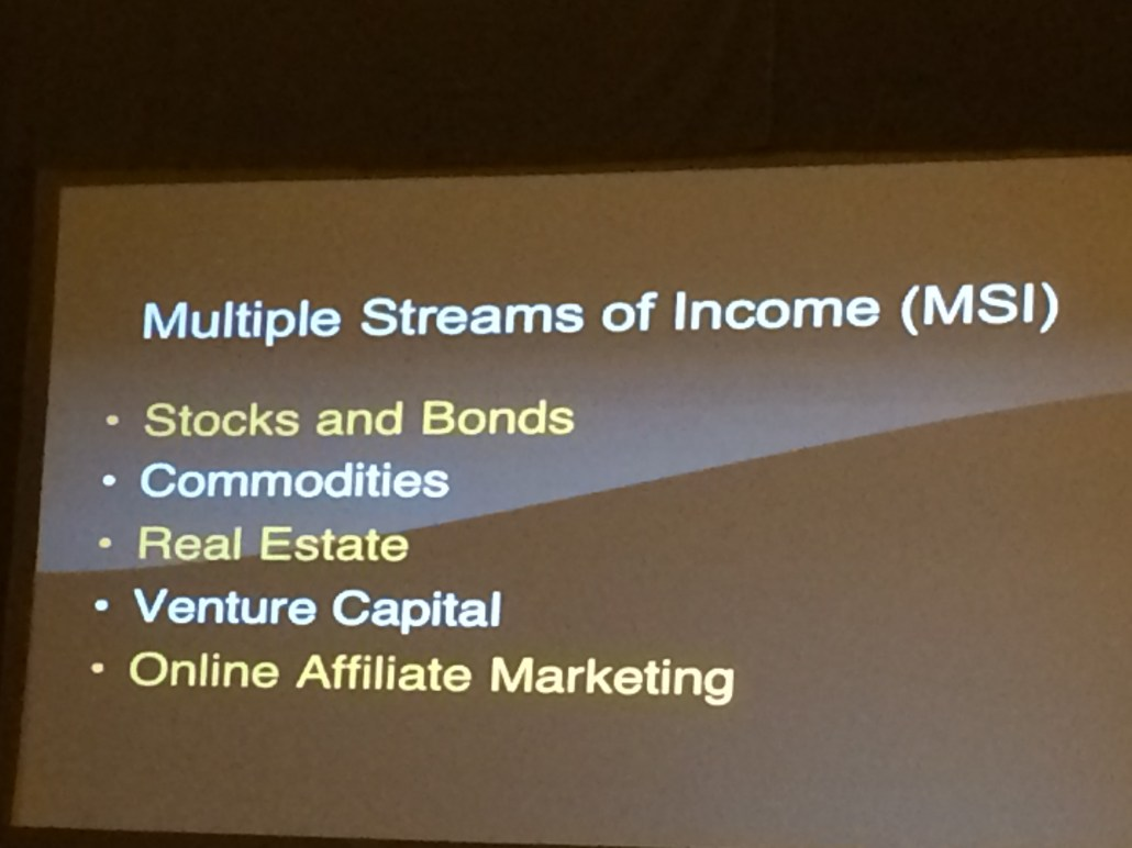 Developing Multiple Steams of Income