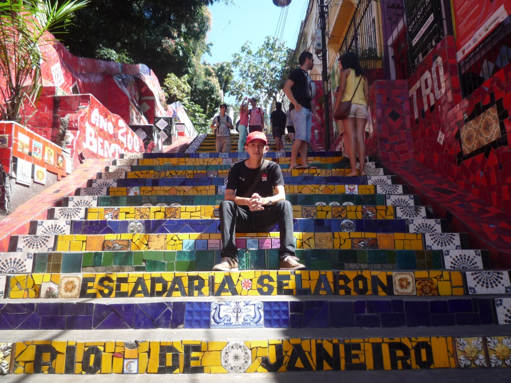 The Selaron steps - where tiles from almost every country are used to decorate this steps