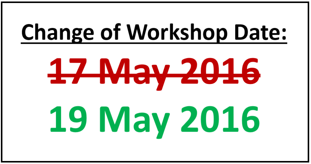 change of workshop dates
