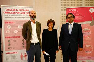 Stefan Cimbollek, Cristina Ballesteros y José Carlos Armario.