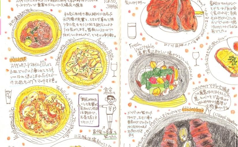 モレスキン絵日記:スペインバルで楽しむ極上会話と個性豊かなフード