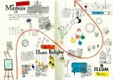 ハヤテノ旅日記(北欧・デンマーク編)。A4サイズのモレスキンに描いた絵日記。