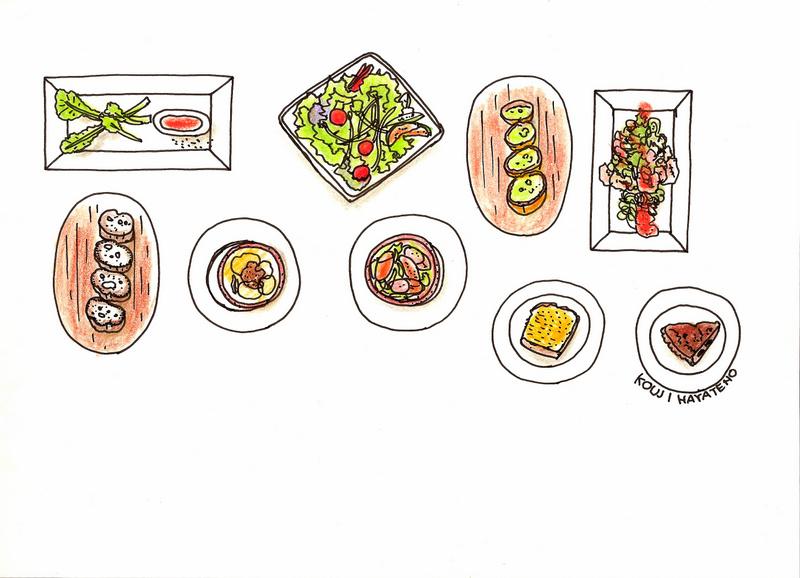 恵比寿のベジタブルレストランでの思い出。サラダの土台を、どんぶりやパスタ、ピザから選べる面白いスタイルだった。年の離れた同業の友人と仕事の研究の話をたっぷりした。