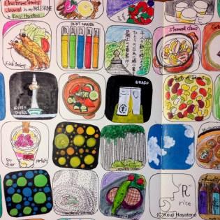 モレスキンに描いたマンスリー絵日記。出張で関西に行ったことが多めになっております。