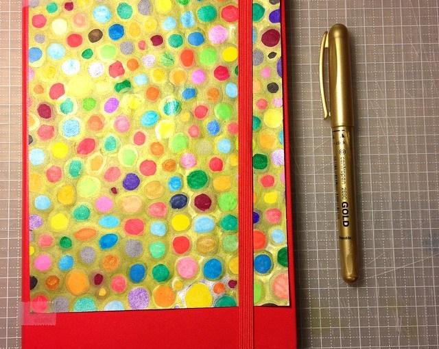 (作品)次のモレスキンは赤いやつで。金色とたくさんの色と。