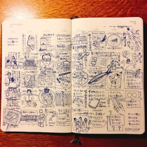 【手帳アイデア】1日1絵は、かんたんで楽しい。「マンスリー絵日記」