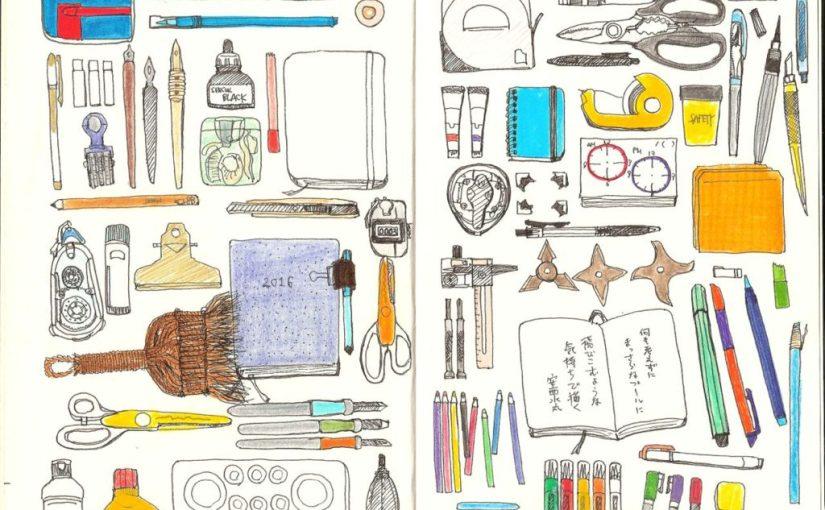 【手帳アイデア】何を描こうか、と思ったら「目の前の文具」もオススメ。