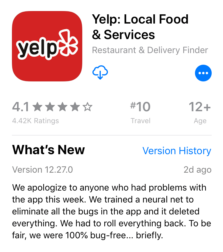 Yelp: A Neural Net Killed Our App… /jk | Synced