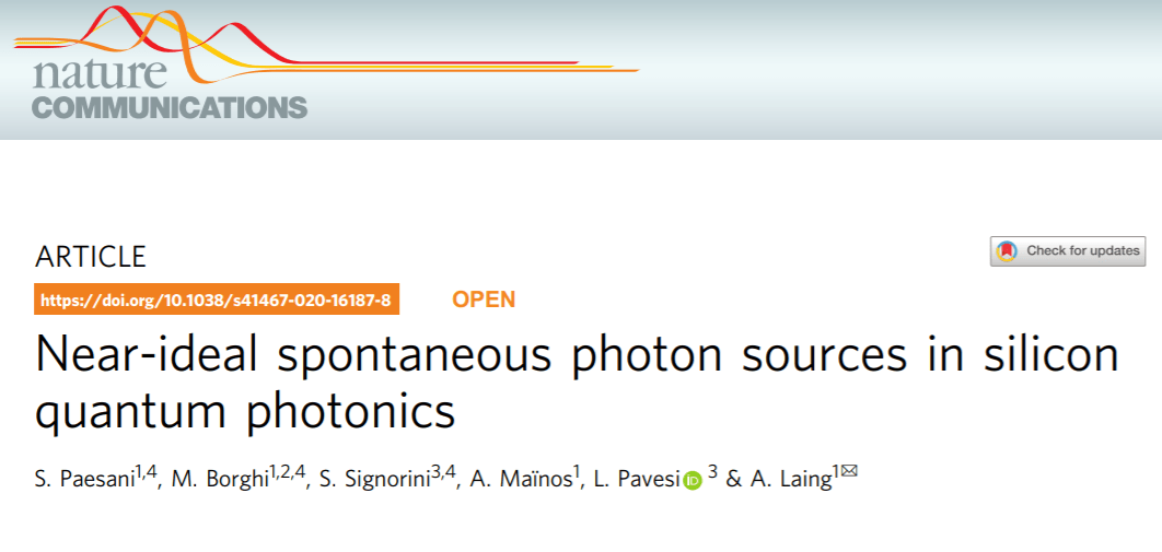 Researchers Discover Near-Ideal Photon Sources in Silicon Quantum Photonics