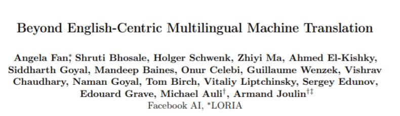Facebook AI Model Directly Translates 100 Languages Without Using English Data