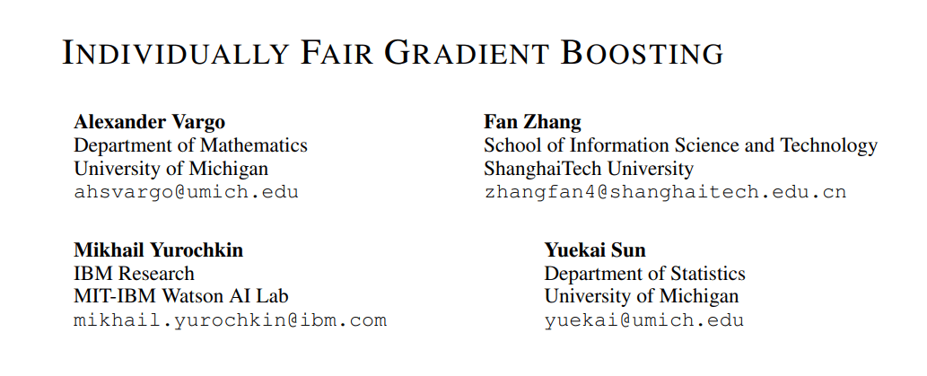 Improving ML Fairness: IBM, UMich & ShanghaiTech Papers Focus on Statistical Inference and Gradient-Boosting