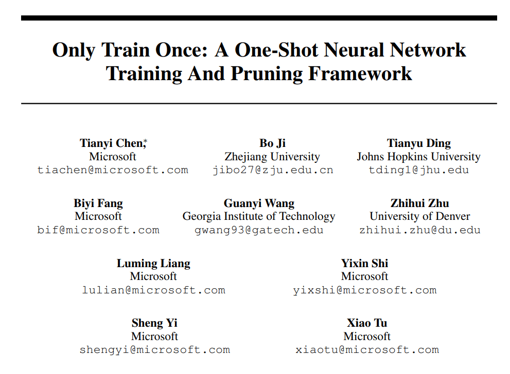 Only Train Once: SOTA One-Shot DNN Training and Pruning Framework