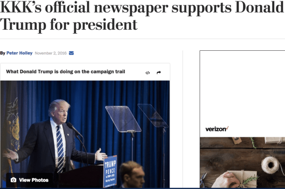 kkks official newspaper supports donald trump for president - 986×655