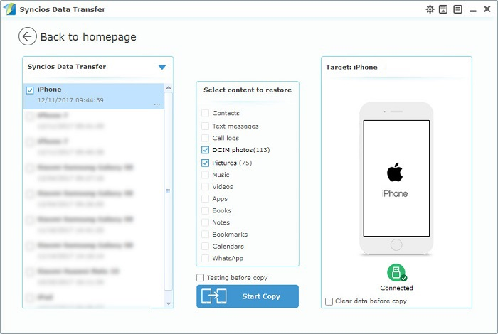 How to Backup and Restore iPhone 6/6S Photos - Syncios