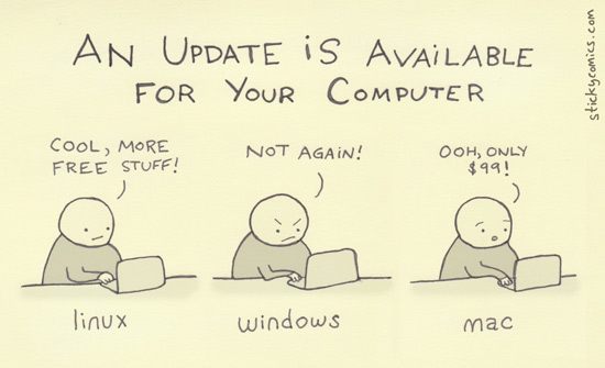 Funny Update Cartoon